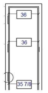 Measuring Hinge location Diagram