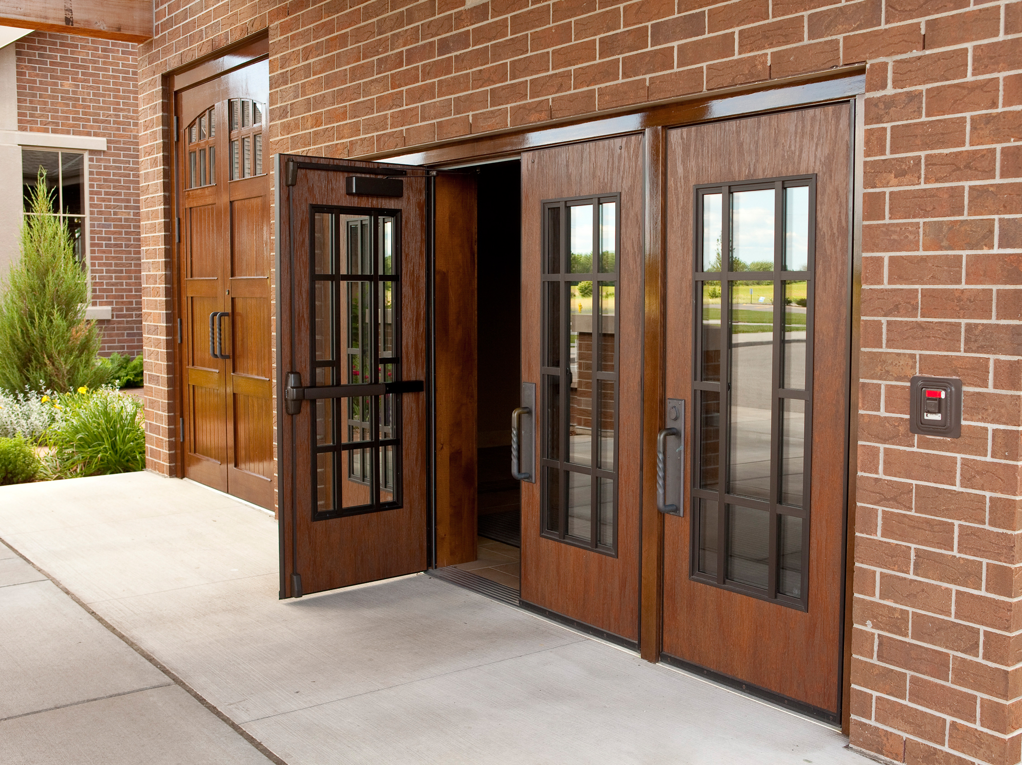 Metal Entrance Doors : Wood doors laforce frame of mind