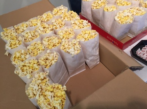 Popcorn and Prizes enticed employees on Monday, October 5.