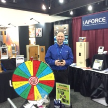 LaForce's WASB Trade Show booth