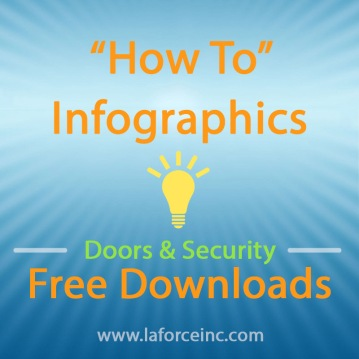 """How To"" Infographics regarding Doors and Security -- Free Downloads -- www.laforceinc.com"
