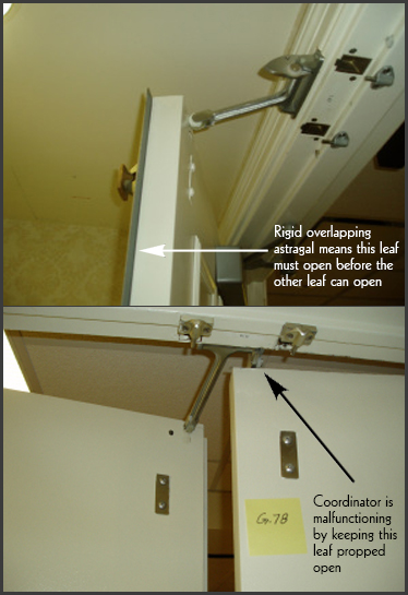 Code Alert 2 Door Coordinators, Overlapping Astragals, & Vertical Rod Fire Exit Hardware