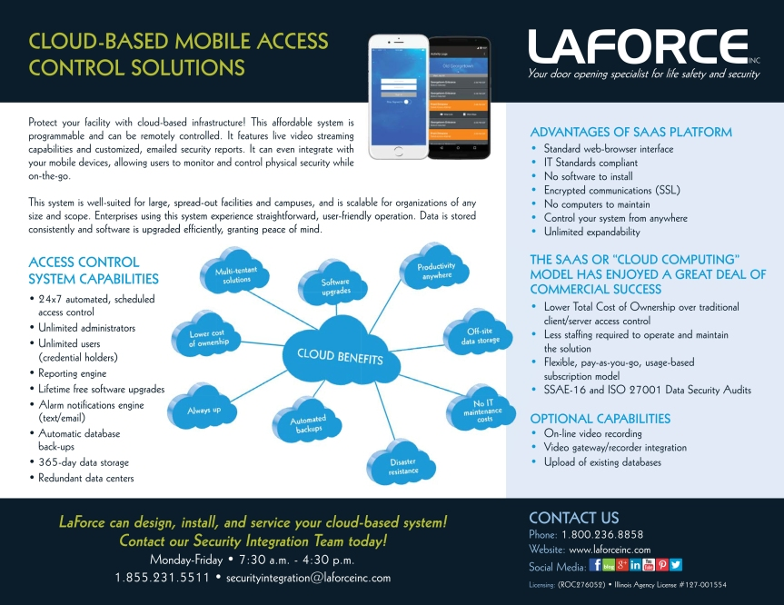 LaForce Inc Cloud Based Mobile Access Control Solutions