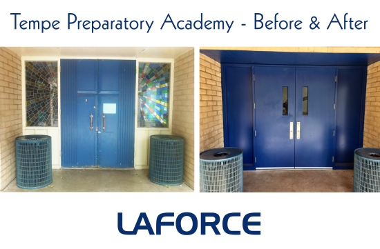 LaForce at Tempe Preparatory Academy before and after