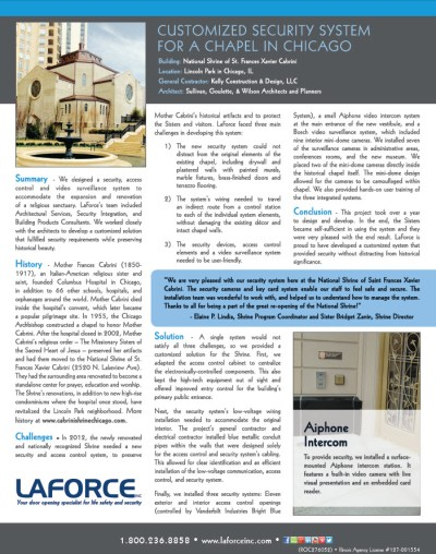 LaForce Inc Cabrini Chapel Case Study