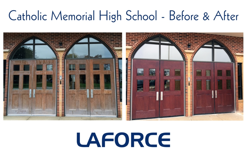 LaForce at Catholic Memorial High School before and after
